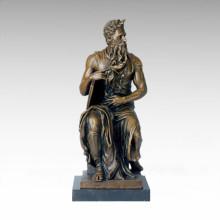 Mitología Escultura de bronce Dios Moisés Artesanía Latón Estatua TPE-131