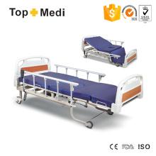 Topmedi cama de hospital elétrica de cinco funções com WC do Commode