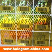 Autocollants de Hologramme de code à barres laser laser de sécurité 3D