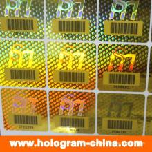 Impression personnalisée d'étiquettes d'hologramme laser