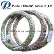 Fil de diamant d'extraction de granit a vu 11.5mm perles de fil frittées