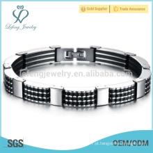 Moda pulseira de cadeia longa, pulseira de prata de limpeza