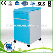 BDCB02 Easy clean and move plastic bedside cabinet blue