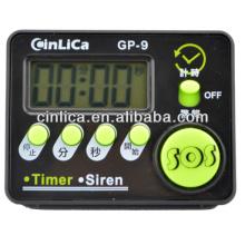 Sirene & timer da exposição do LCD, mini sirene & temporizador digitais da cozinha, temporizador eletrônico da cozinha com ímã