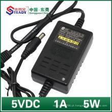 Tipo de Desktop Adaptador de Alimentação 5VDC 1A