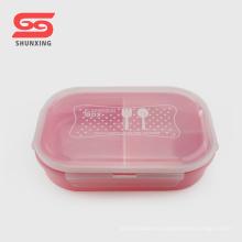Caja de almuerzo de 3 compartimentos de plástico bento box libre de BPA