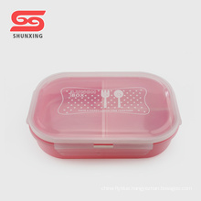 BPA free bento box plastic 3 compartment lunch box