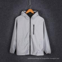 Chaqueta reflectante gris personalizado / chaleco reflectante de seguridad