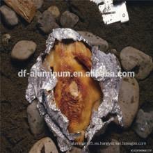 Envoltura de alimentos blandos papel de aluminio