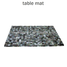CBM-MP New Style Black mother-of-pearl placemat for table decoration