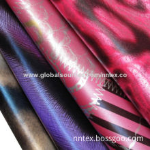 Cire printed polyester fabric, oil cire finish, down-proof, 75*75D yarn count, 57/58-inch width