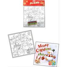 Дети Рождество дизайн живопись головоломка бумаги головоломки творческий головоломки