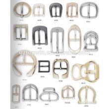 Hebilla del perno de la forma del brillo D y hebilla de cintura de la aleación del cinc / venta de la hebilla del metal con precio de fábrica