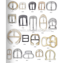 Glitter D shape pin buckle and zinc alloy belt buckle/ metal buckle sale with factory price