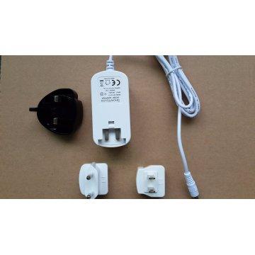 Connecteurs échangeables Adaptateur secteur 12V 0.5A 1A 2A 3A