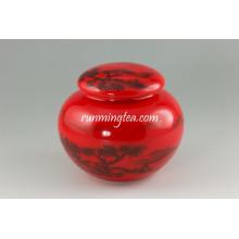 Набор из китайского красного ландшафтного фарфорового кастрюля