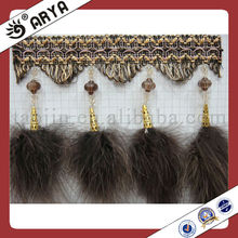 feather curtain tassel fringe for curtain accessory