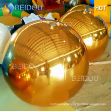 Wedding Event Stage Decorative Mirror Balls Gold Mini Disco Inflatable Mirror Ball