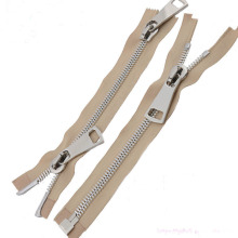 High Strength New Material Silver Metal Zipper