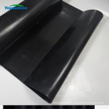 sooth textured surface black 5mm neoprene rubber sheet