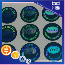 Security Label PET 3D Hologram Sticker