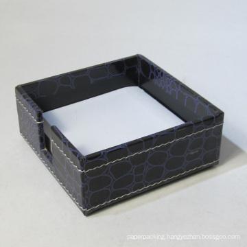 Luxury Crocodile PU Leather Memo Pad Box Holder