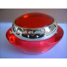 Tarro de crema de cosméticos de acrílico rojo