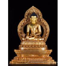 El fengshui de interior del jardín del zen de Asia cultiva la estatua de bronce del budha del metal de los artes para la venta