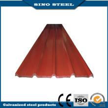 Hoja de acero acanalada prepintada tejado de alta calidad de China