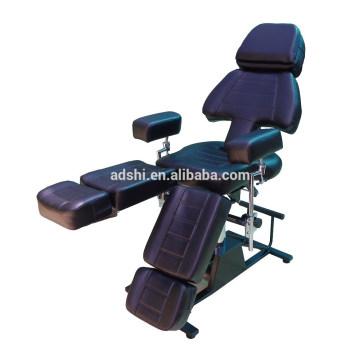 Cama de belleza de múltiples funciones cama de tatuaje de mesa de masaje, cama de masaje de belleza tatuaje negro cómodo
