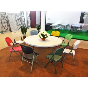 Preiswerter im Freienqualitäts-farbiger Plastikfaltbarer Stuhl, populärer Verkauf Faltender beweglicher Stühle für Kirche, Garten, Baldachin
