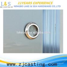 Estável qualidade rodada tubo de vidro temperado puxador da porta