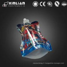 Vente chaude pochette imprimée imprimée personnalisée avec bec verseur / support en plastique pochette / pochette en plastique pour emballage liquide