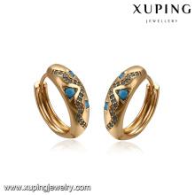 93380 Boucle d'oreille en cuivre environnement fantaisie femme bijoux turquoise pavée boucles d'oreilles huggies