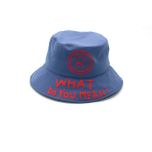 Kundenspezifische Baumwollstickerei Short Bucket Hat Patch