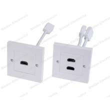 86 HDMI Wall Plate with Tail Adapter