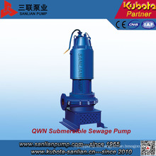 Sistema de corte de tipo Qwn Bomba de aguas residuales sumergible