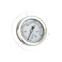 Hot selling silicone filled stainless steel manometer