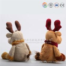 casa de vacaciones de navidad renos decorativos animales de peluche