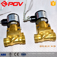 Normally closed gas emergency shut-off valve