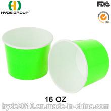 16 oz Einweg-Papier Suppenschüssel, Papier Suppe Cup (16 oz-3)