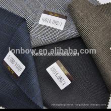 bespoke 100 merino wool fabric italian wool suit fabric plaid men's suit jacket fabric