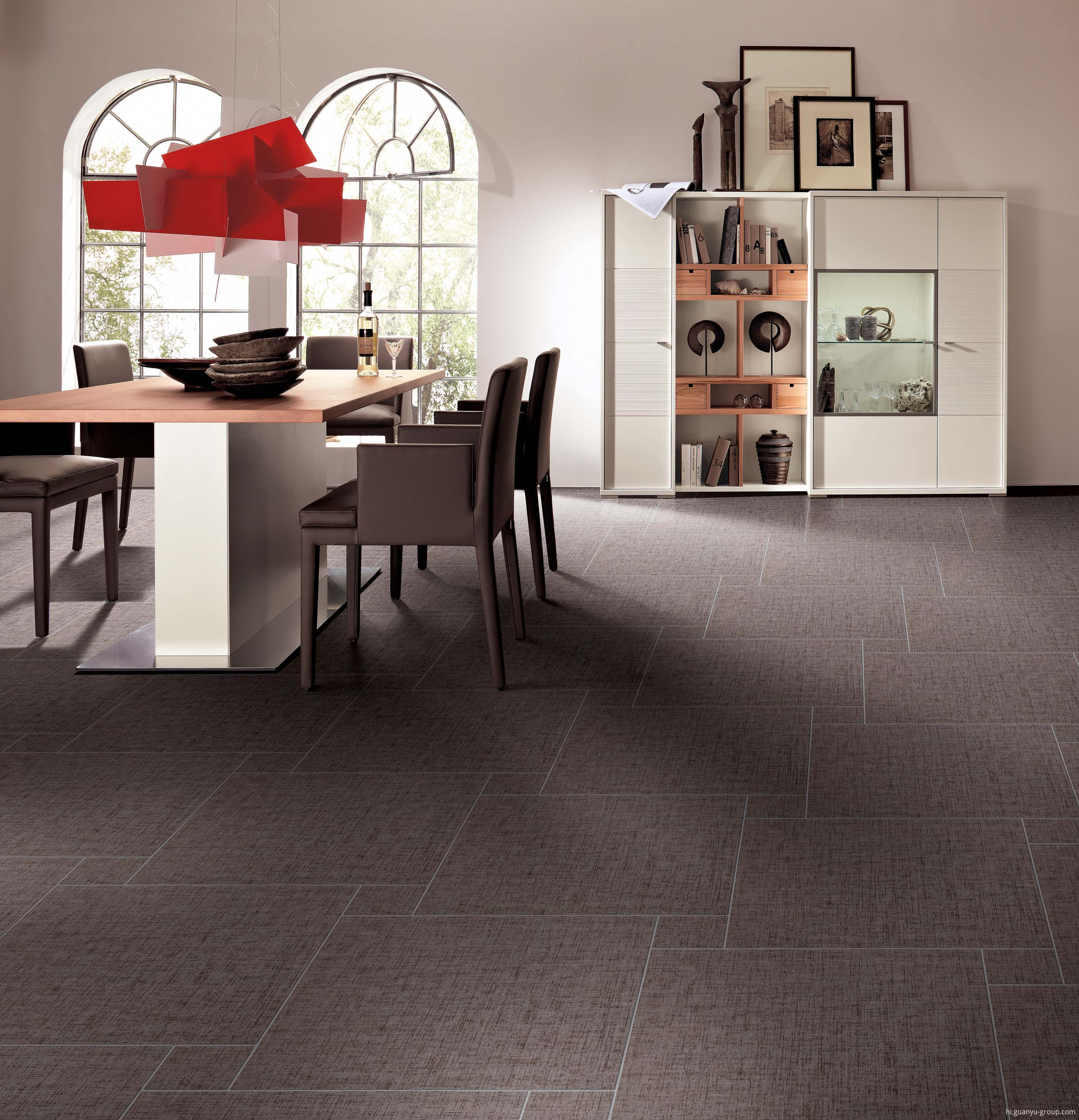 Brown Brocade Non-Slip Porcelain Tile