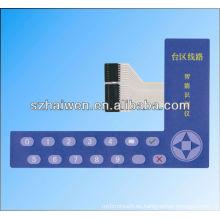 Interruptor de membrana PET de pantalla táctil