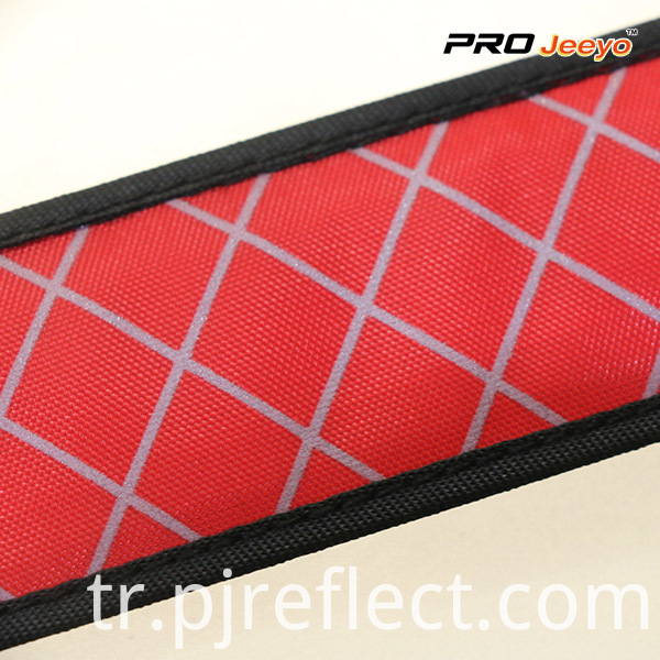 LED Light Nigh Vision Oxford Fabric Red Plaid ArmbandWB-GW003