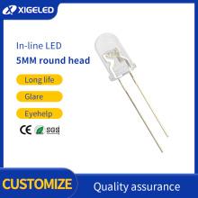 Inline-LED f5 weiß transparent Hochleistung