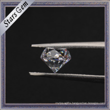Wuzhou Manufacturer Round Star Cut 40% Heavy Weight Cubic Zirconia