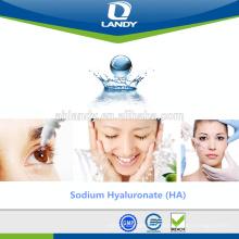 Hyaluronate de sodium de qualité cosmétique de soins de la peau de qualité fiable Acide hyaluronique pur