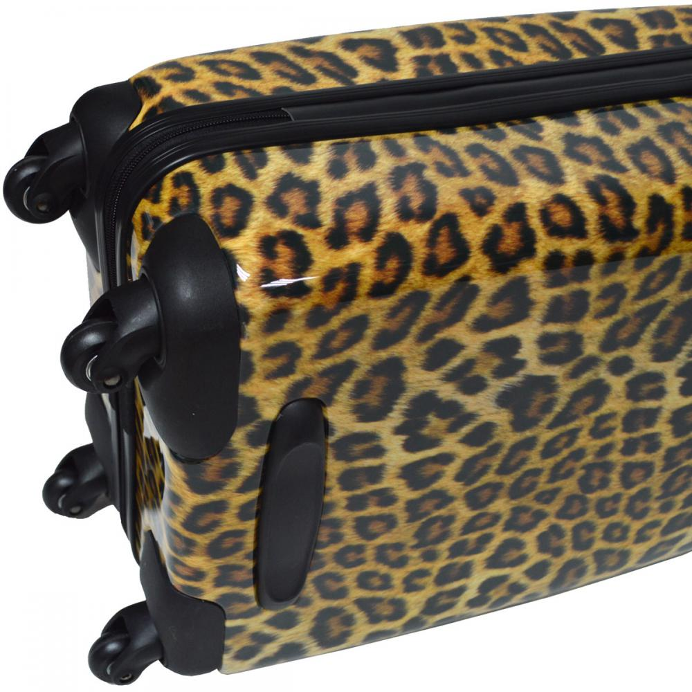 ABS&PC Leopard Print Luggage