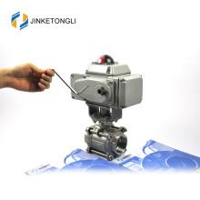 JKTLEB010 válvula de aire de bola roscada automatizada